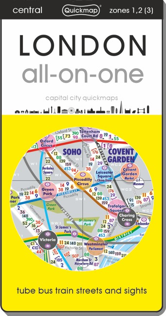 London all-on-one city Quickmap cover ISBN 9780956481429