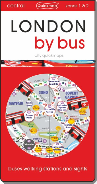 London by Bus city Quickmap cover ISBN 9780993161360