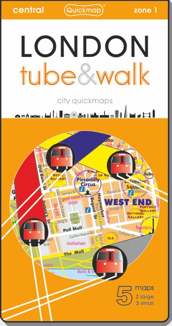 London Tube and Walk Quickmap cover ISBN 9780993359835