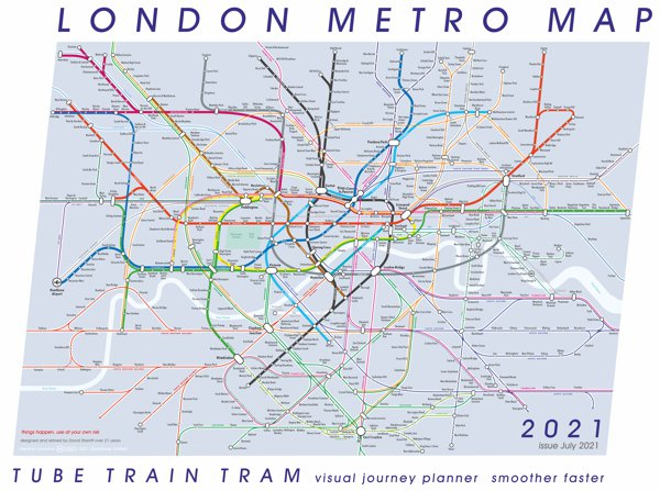 a mini image overview London's Metro Map