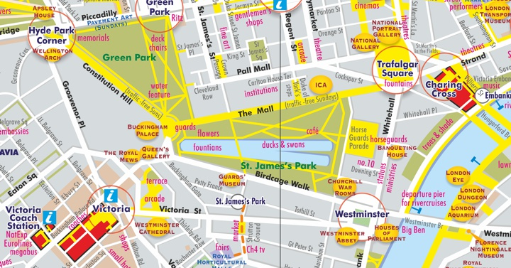 Areas Of Central London Map.London By Bus A Pocketmap For Enjoying London Riding Top Deck